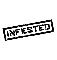 Infested rubber stamp vector
