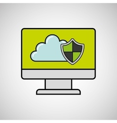 Internet security computer protection vector