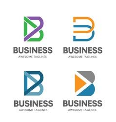 Creative b letter concept vector