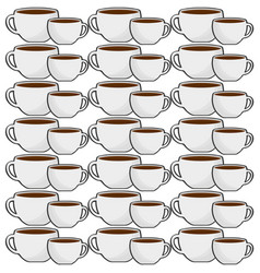 Cup coffee porcelain seamless pattern vector