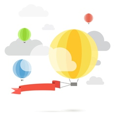 Flying color balloons vector image