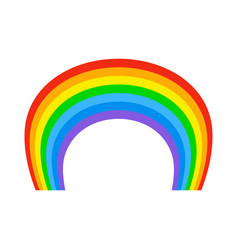 Rainbow isolated natural colored arc on white vector