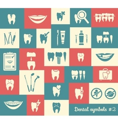 Set of dentistry symbols part 2 vector