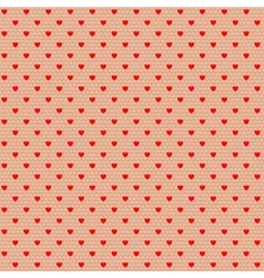 net pattern with hearts vector image