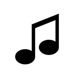 Icon of music note vector
