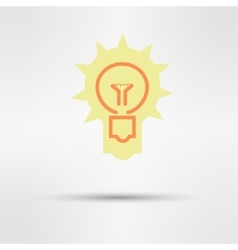 Light sign ideas web icon design vector
