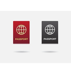 Set of citizenship or foreign passport id in vector