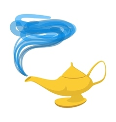 Lamp aladdin cartoon icon vector