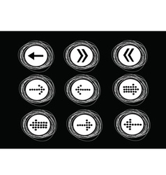 Arrow icons for web vector image vector image