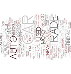 Auto trade text background word cloud concept vector