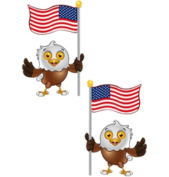 Bald Eagle Character 6 vector image