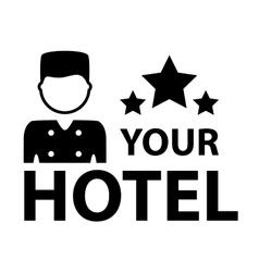 black hotel symbol vector image vector image