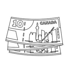 Canadian dollar canada single icon in outline vector