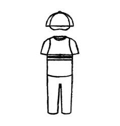 child fashion clothes icon vector image vector image