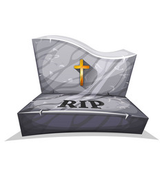 Christian marble tombstone with rip vector