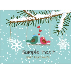 christmas greeting card vector image vector image