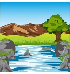 Clean river year daytime vector