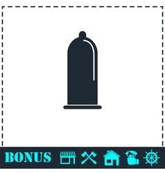 Condom icon flat vector