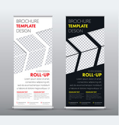 design a universal business roll up banner with a vector image vector image