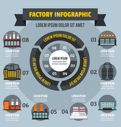 Factory infographic concept flat style vector