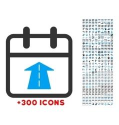 Future date icon vector