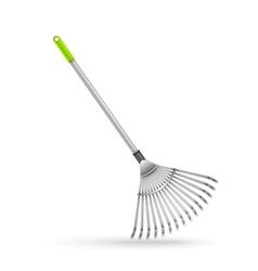 Garden rake isolated on white background vector