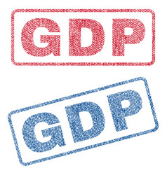 Gdp textile stamps vector