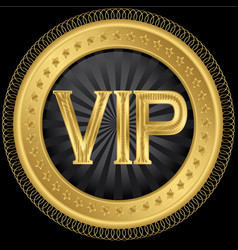 Golden VIP Badge vector image vector image