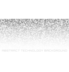 Gray pixel horizontal background vector image vector image