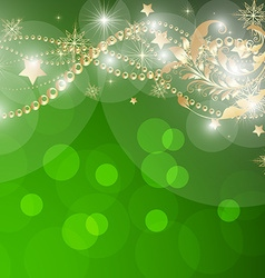 Green Christmas Background vector image