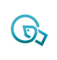letter q symbol vector image vector image