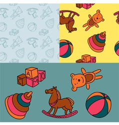Pattern toys vector image vector image
