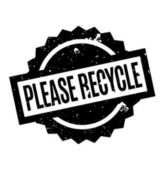 Please recycle rubber stamp vector
