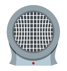 Portable electric heater icon isolated vector
