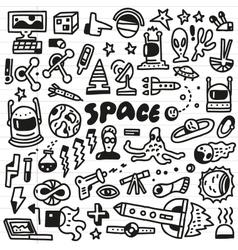 Space - doodles set vector