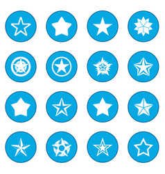 star icon blue vector image vector image