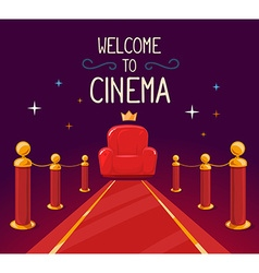star red carpet and cinema armchair with vector image