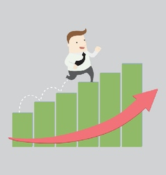 Step going up vector image vector image