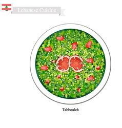 Tabbouleh or Lebanese Vegetarian Salad vector image vector image
