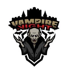 Vampire night emblem vector