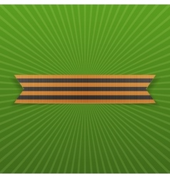 Victory day symbol - st george ribbon may 9 vector