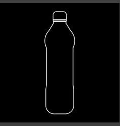 water plastic bottle the white path icon vector image vector image
