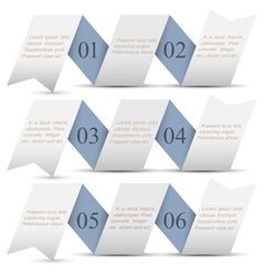 Horizontal origami paper numbered banners vector image