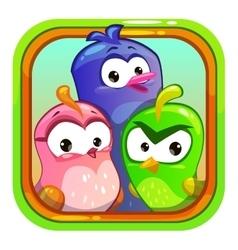 Birds application store icon element vector