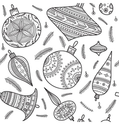 Christmas baubles seamless pattern vector