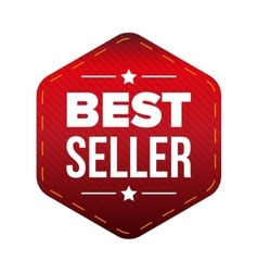 Best Seller red patch vector image