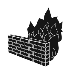 Firewall icon in black style isolated on white vector