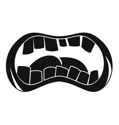 zombie mouth icon simple style vector image