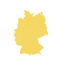 German map isolated dotted germany map yellow vector
