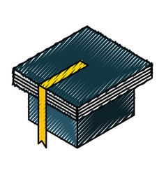 graduation hat with book vector image